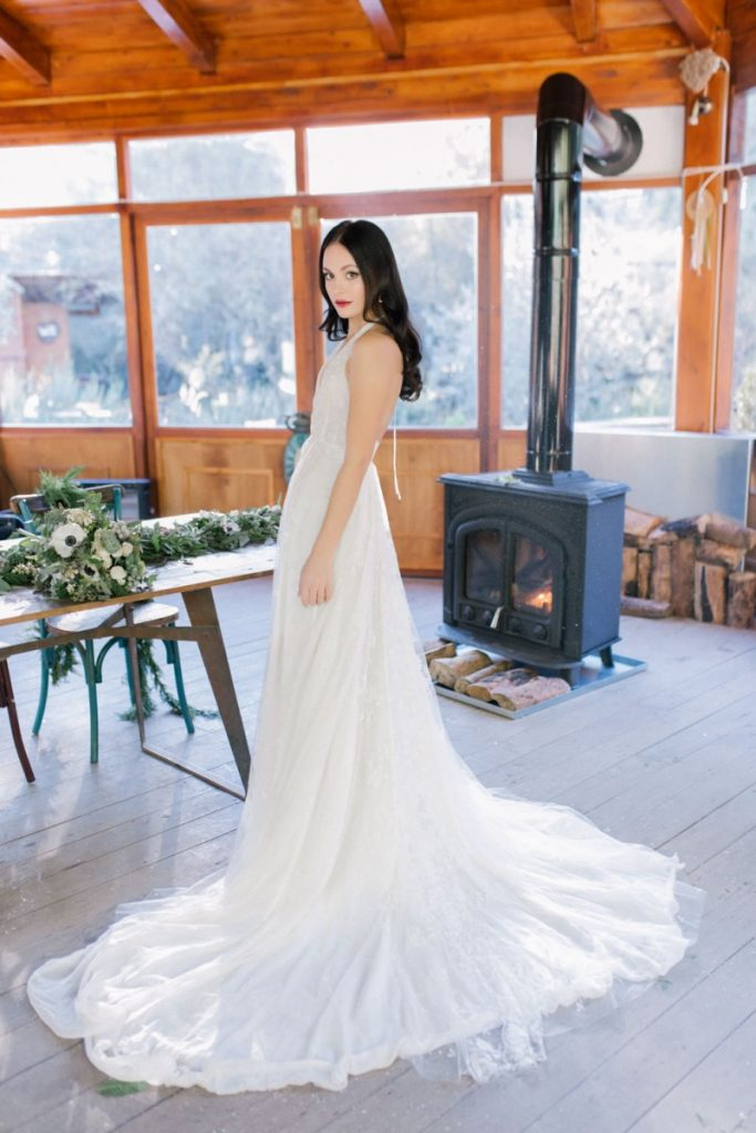 Bride in the white dress