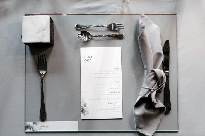 dinner table setup in Thessaloniki