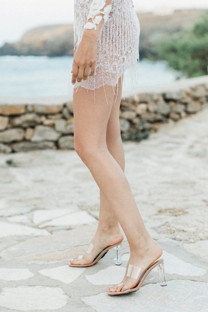 Mairi Maprola short dress Love Story in Mykonos
