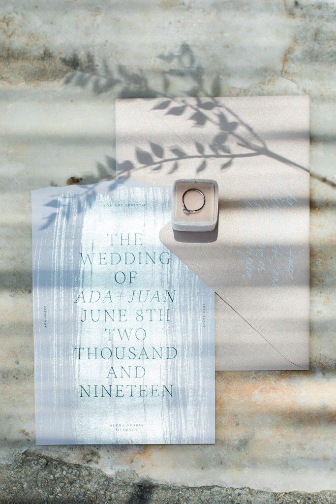 Love Story in Mykonos  Stationery