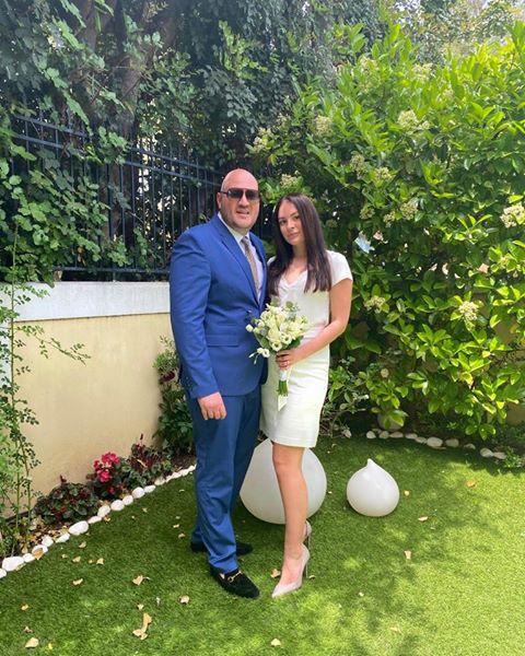 Real Corona Bride Getting Married in Greece in the green garden