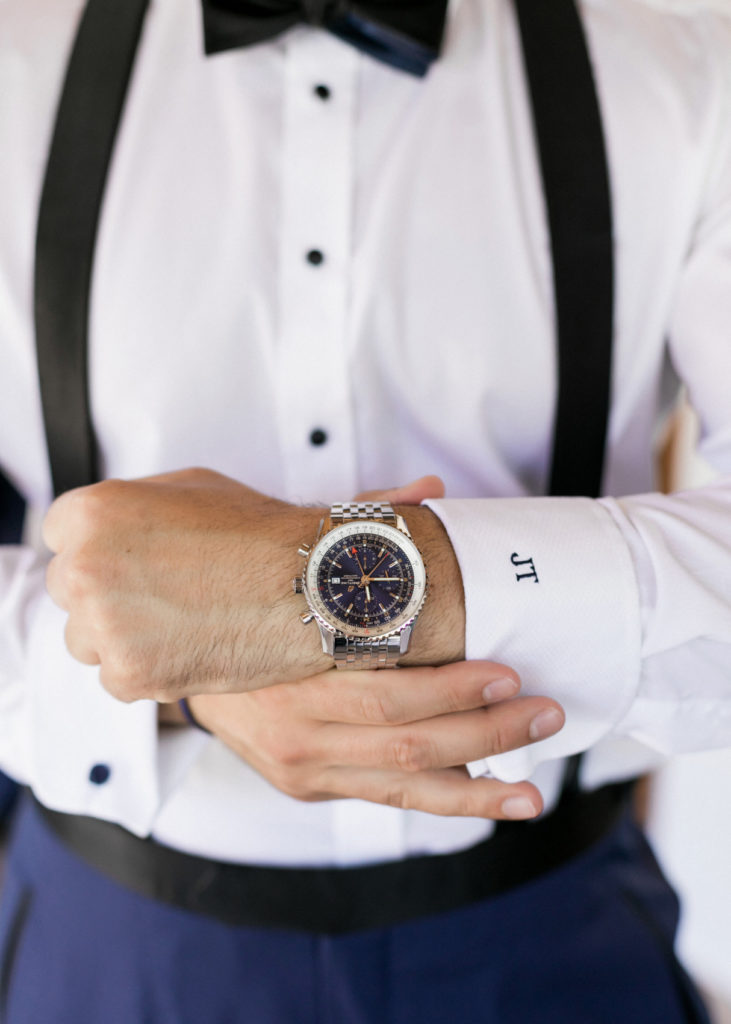 Grooms watch and enitials