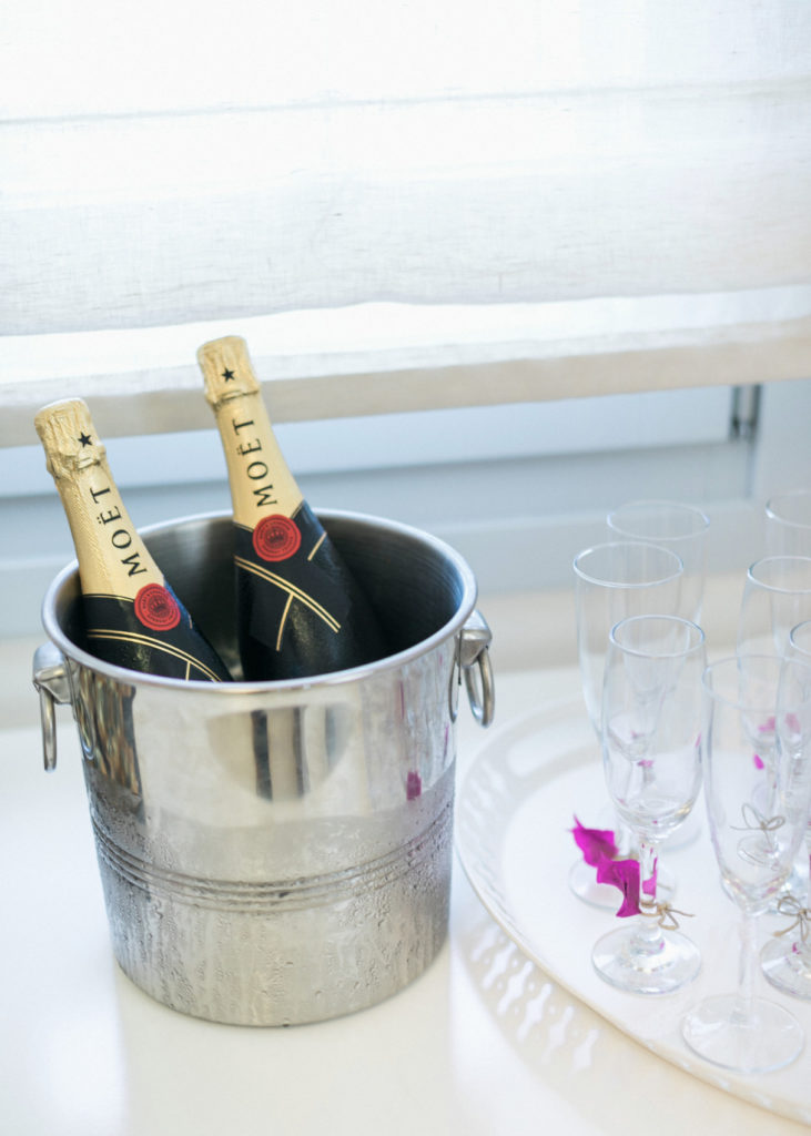 Moet Champagne for the wedding week