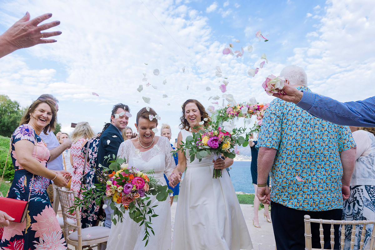 Happy Lesbian Wedding Ceremony in Greece