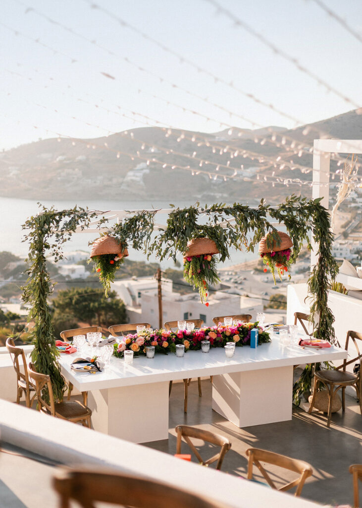 Ios Club Famous Reception Venue for the Fun and colorful modern island wedding on Ios in Greece