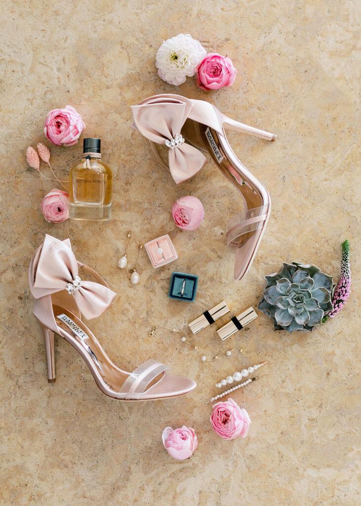 Brides details liek shoes and lipstic