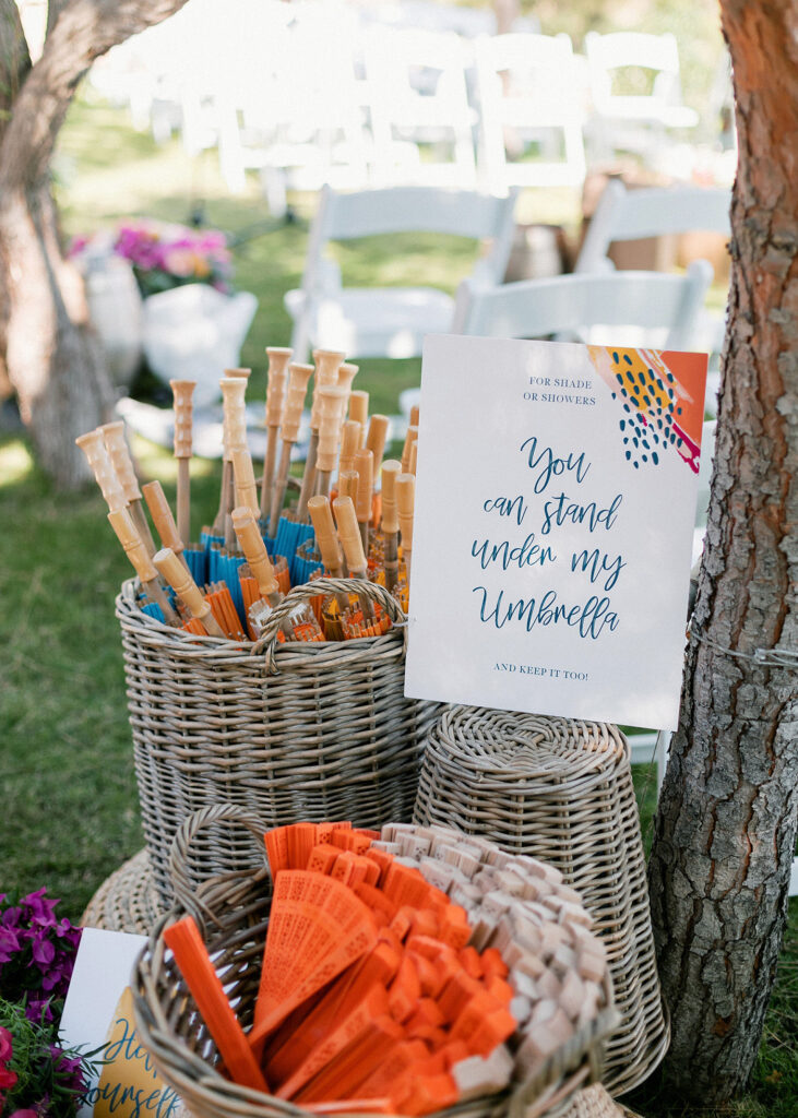 fun gifts for guests at the Fun and colorful modern island wedding
