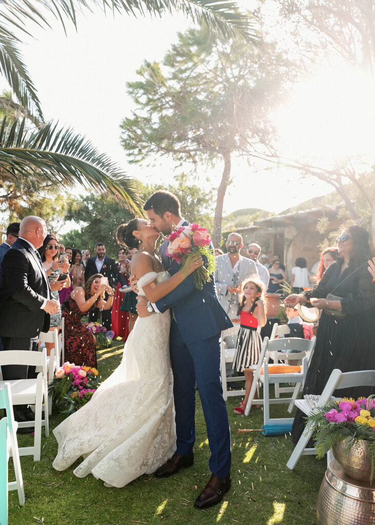 happy couple got married