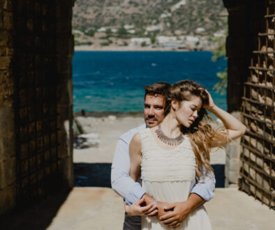 Couple in love Anniversary Celebration from the famous island of Spinalonga