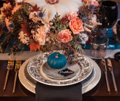 Hey Pumpkin table setup fall themed décor
