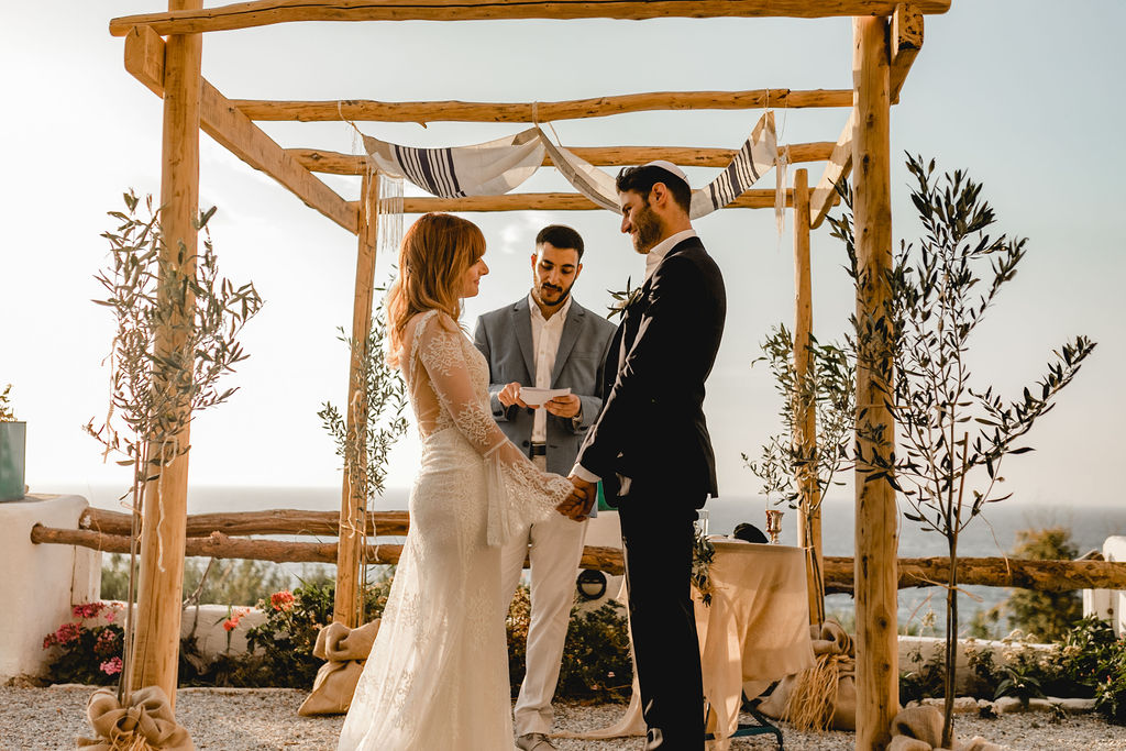 Happy Destination Jewish wedding Ceremony in Greece