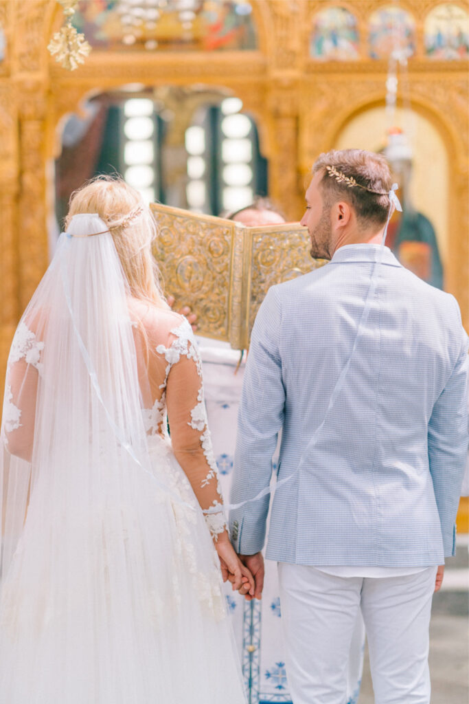 Instagram Influencer couple Gets Married in Greek church
