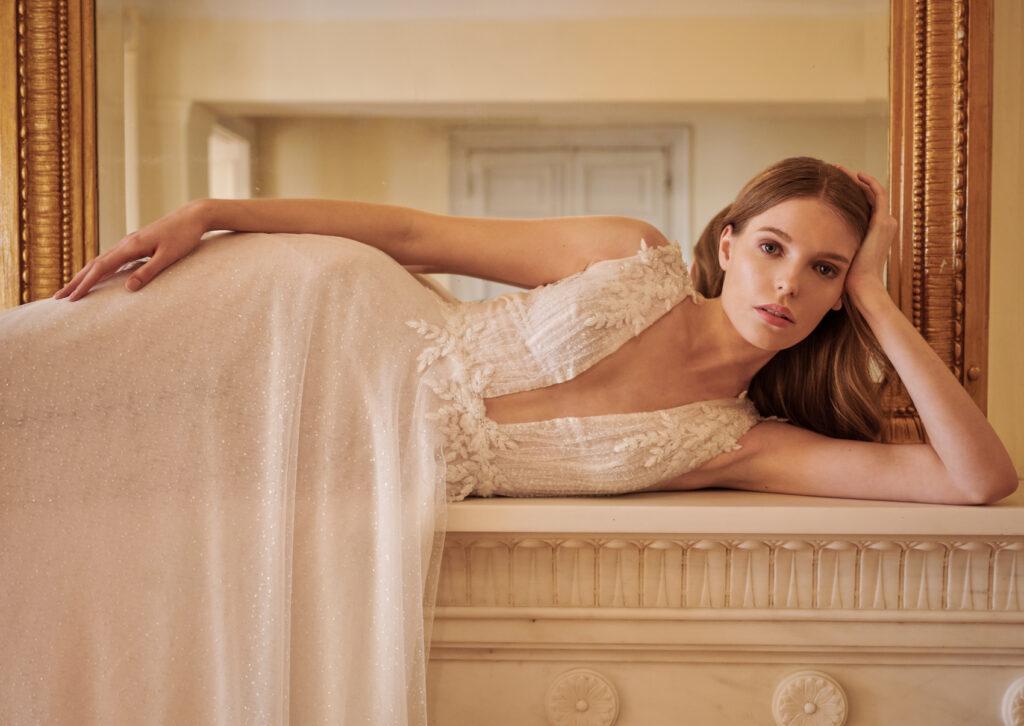 Greek Bridal Designer New look book collection Bride on the mantle