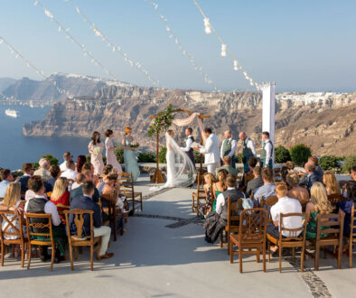 Alfresco Traditional Scottish Wedding in Santorini