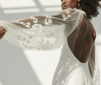 Open back dress as new bridal trends