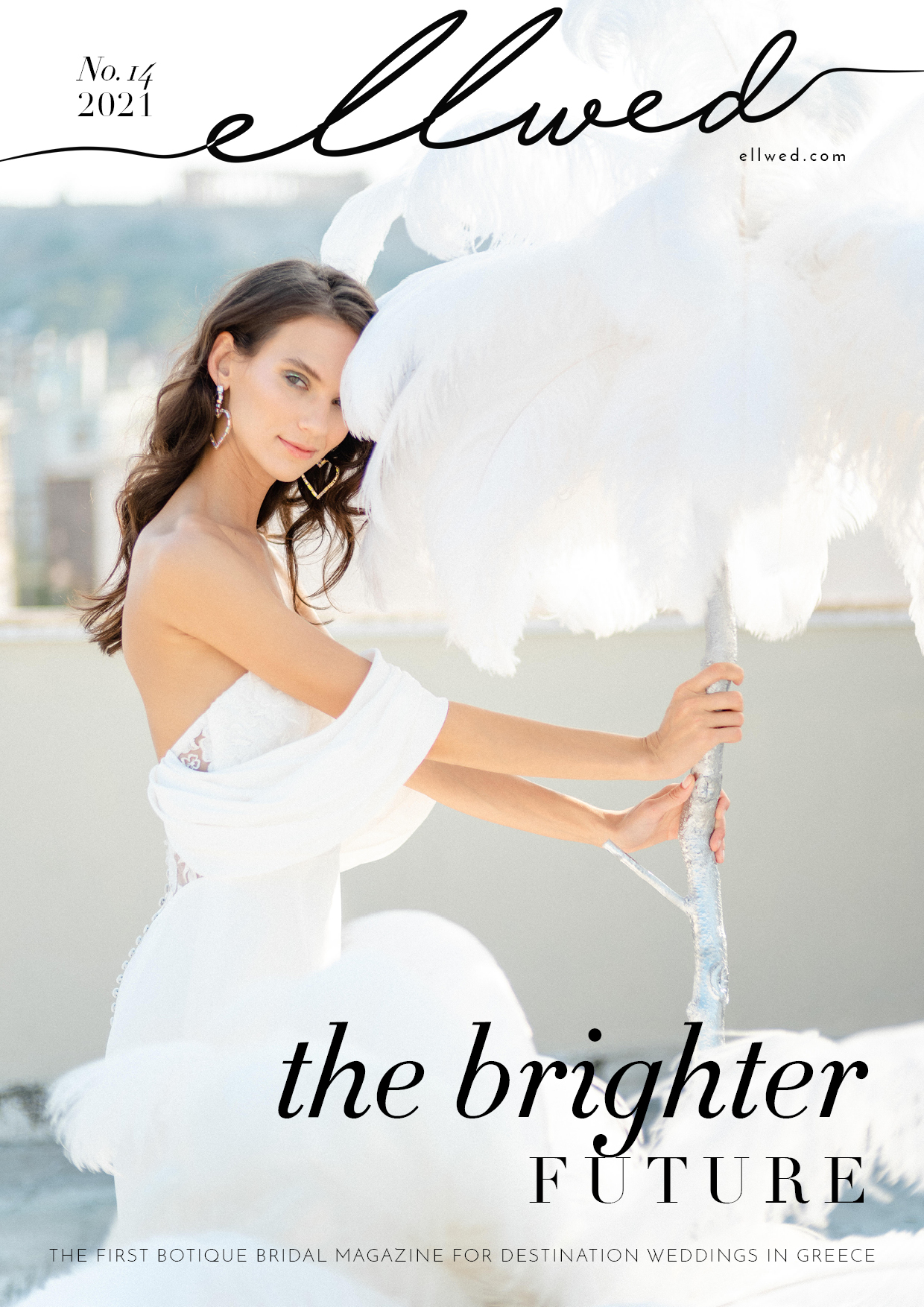 Cover of Ellwed digital Magazine for destination weddings in Greece