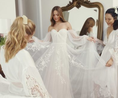 Lihi Hod Bridal Look Book on Ellwed Young Bride with Bridesmaids