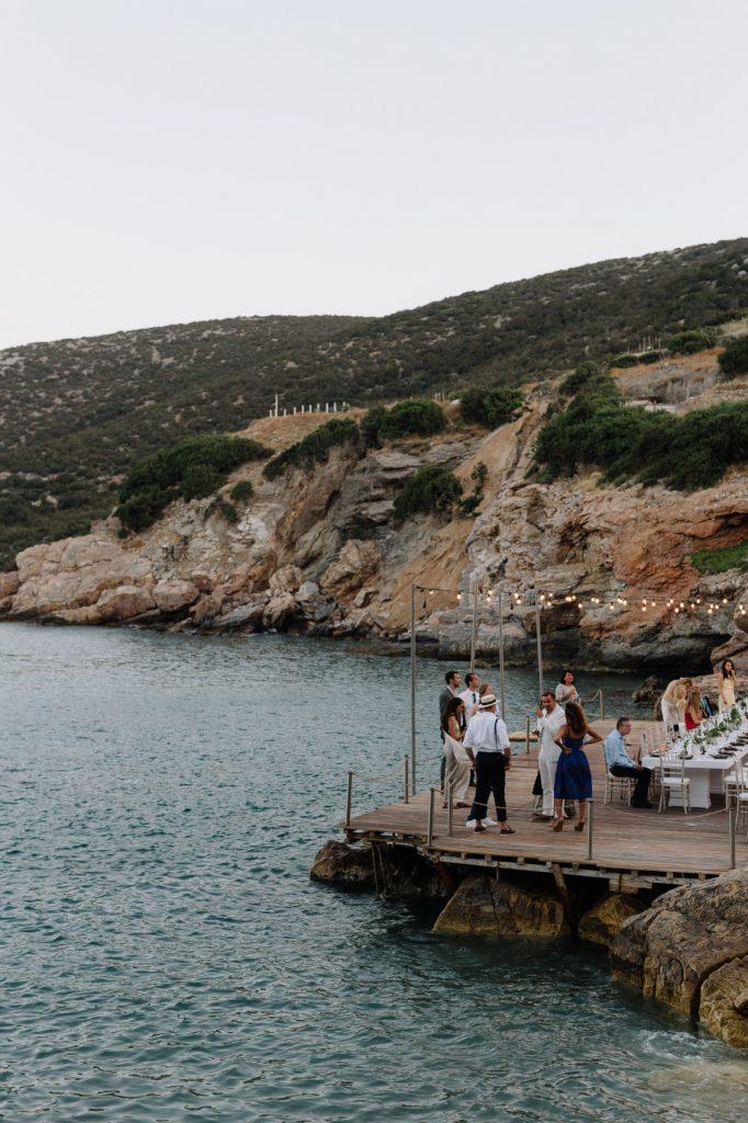 stylish eco-conscious wedding patio on the sea